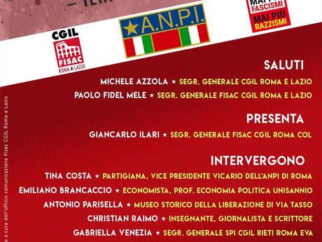FISAC CGIL ROMA E LAZIO: FASCISMI E ANTIFASCISMO: INIZIATIVA FISAC E ANPI 2 MAGGIO