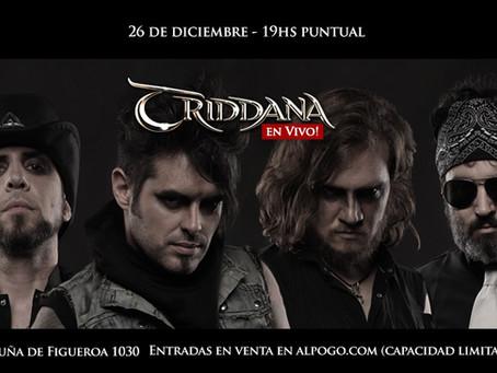 Triddana en vivo! 26/12 - Buenos Aires