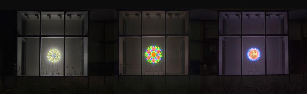neon, mandala, camilla, quinn, las vegas, city hall, windows on first, public art