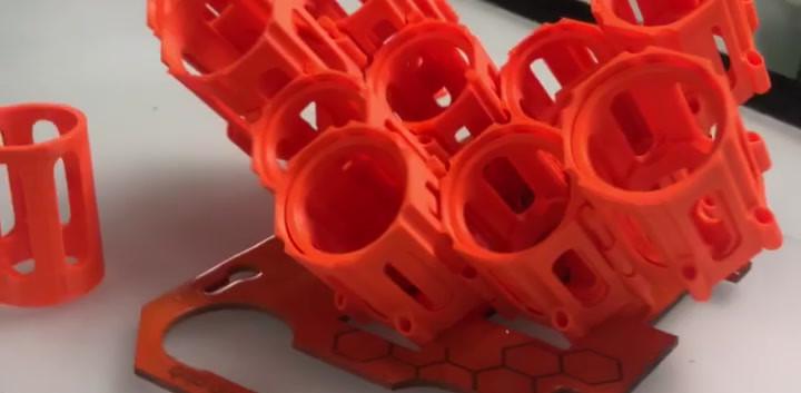 Ink pods in orange video