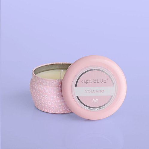 Pink Volcano Tin Candle