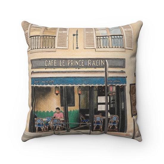 """Cafe Le Prince Racine"" Pillow"
