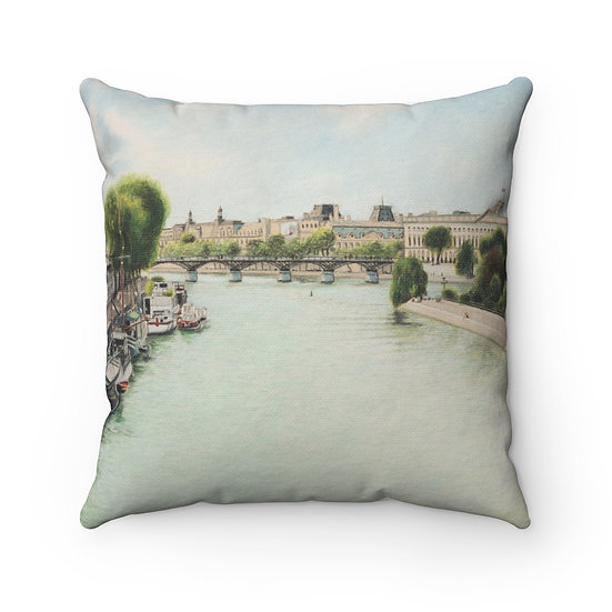 """Pont Des Arts"" Pillow"