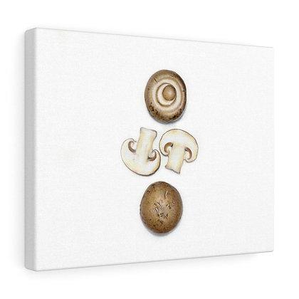 """Agaricus Bisporus {White Mushroom}"" Limited Edition Canvas Print"