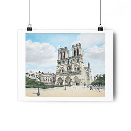 """""""Cathedral Notre Dame"""" Limited Edition Print"""