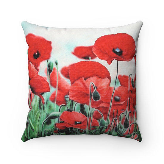 """Blushing Poppies"" Pillow"