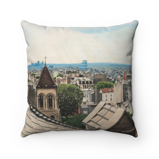 """Above a Heavenly City"" Pillow"