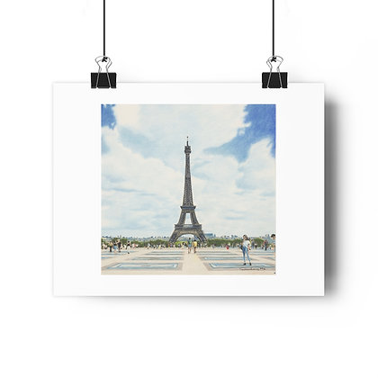 """""""Esplanade du Trocadero"""" Limited Edition Print"""