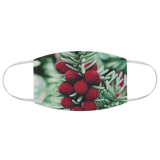 """""""Winter's Rubies"""" Fabric Face Mask"""