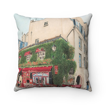 """Le Marais in the Morning"" Pillow"