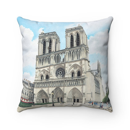 """Cathedral Notre Dame"" Pillow"