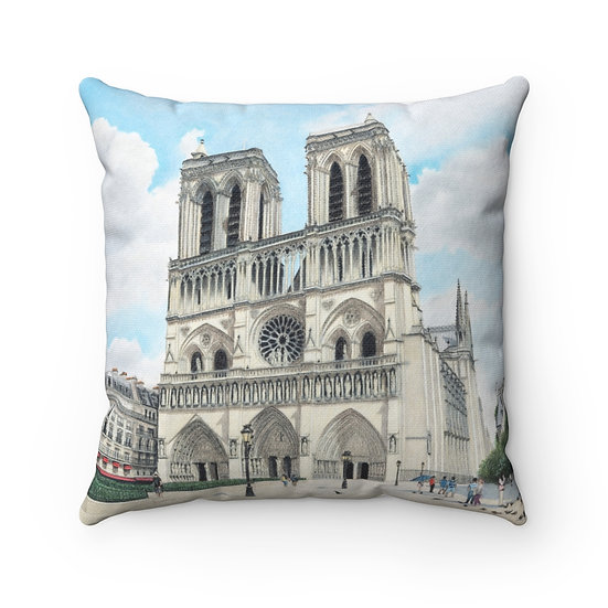 """""""Cathedral Notre Dame"""" Pillow"""