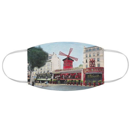 """Le Moulin Rouge"" Fabric Face Mask"