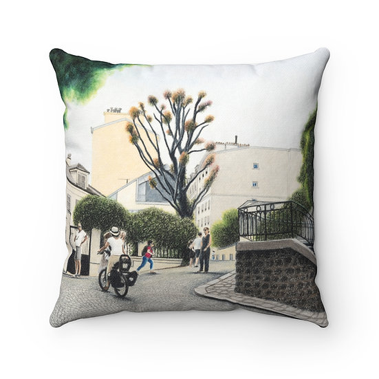 """Hills of Montmartre"" Pillow"