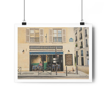 """Cafe Le Prince Racine"" Limited Edition Print"