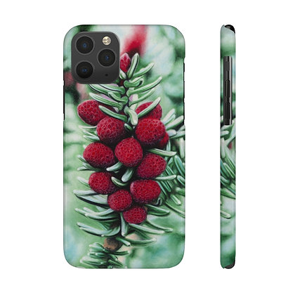 """Winter's Rubies"" Phone Case"