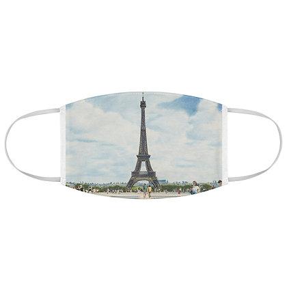 """Esplanade du Trocadero"" Fabric Face Mask"