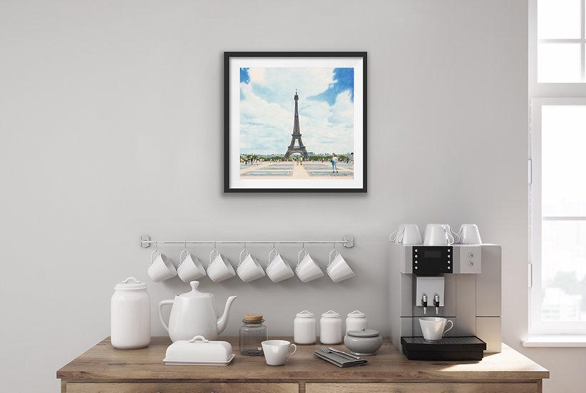 """""""Esplanade du Trocadero"""" Print"""