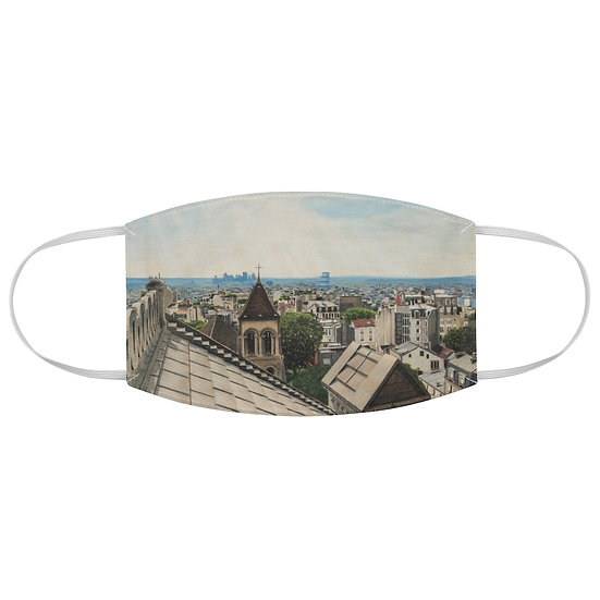 """Above a Heavenly City"" Fabric Face Mask"