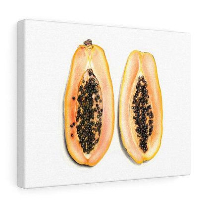 """""""Carica Papaya {Papaya}"""" Limited Edition Canvas Print"""