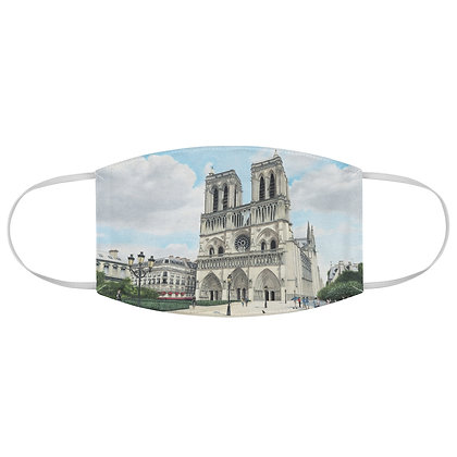 """""""Cathedral Notre Dame"""" Fabric Face Mask"""
