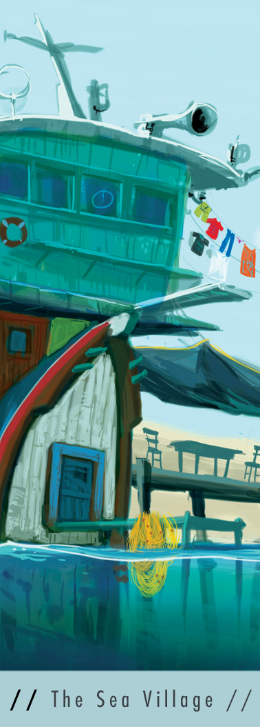 Sea Village Concept Art