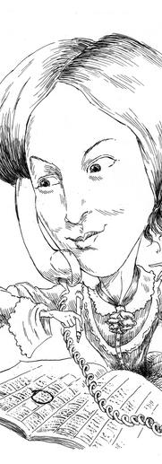 Portrait B/W Charlote Bronde