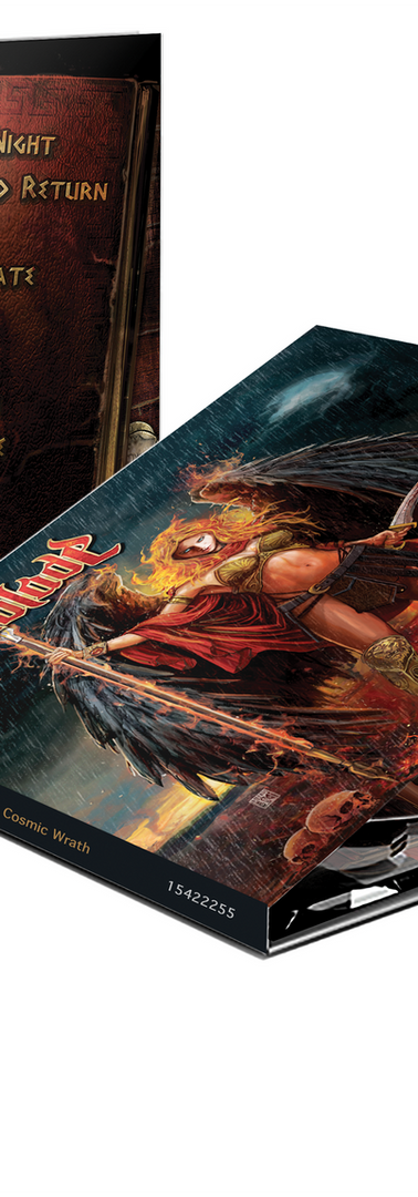 """Cd cover illustration for Scarblade - """"The Cosmic Wrath"""""""