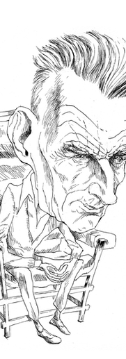 Portrait B/W Samuel Beckett