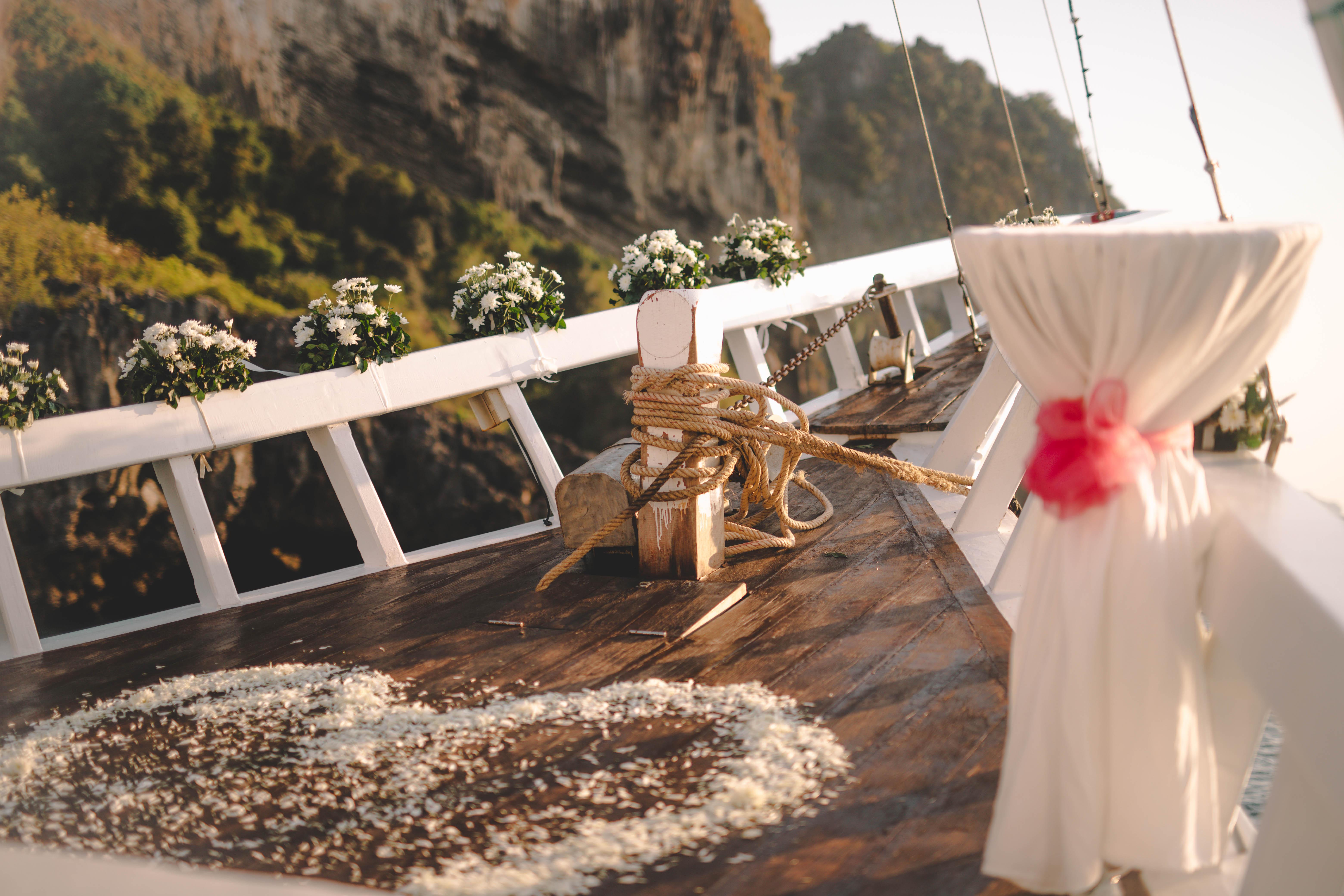 bryllup på båt