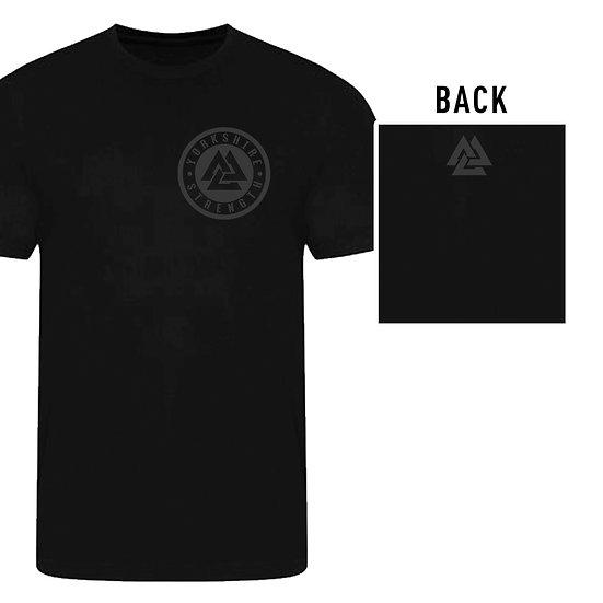ATHLETE: Black Silicone Style Mens T-Shirt
