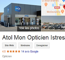 Avis global Google Atol mon opticien Ist