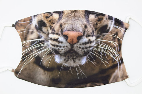 """""""CAT FACE"""" mask - be feline like a big cat - a clouded leopard covering"""