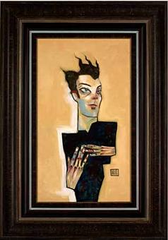 self portrait framed original .png