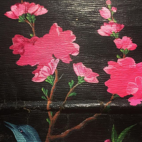 Painting on leather, New work . . . . .