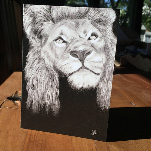 """Lion"" - Greeting Card"