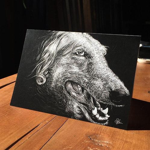 """Old Dog"" - Greeting Card"