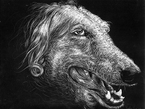 """""""Old Dog"""" - Pet Portrait Print"""
