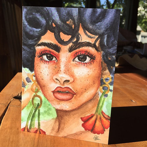"""Island Girl""- Greeting Card"
