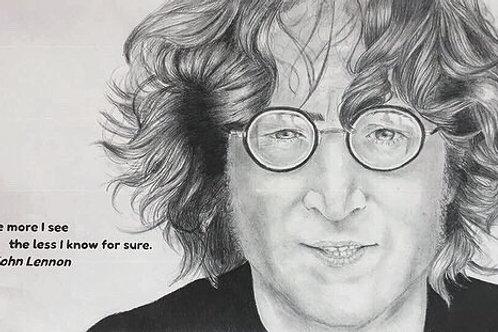 """John Lennon"" - Beatles Graphite Portrait Print"