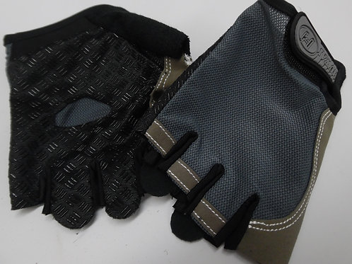 gray non-slip fingerless gloves