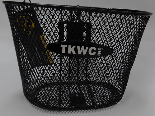 Wire handlebar basket