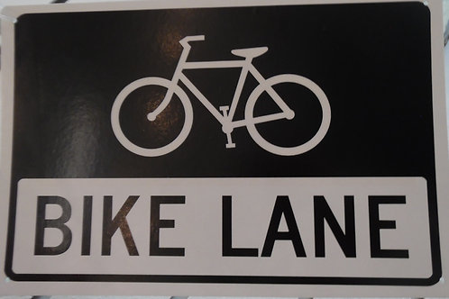 Metal bicycle sign Bike Lane