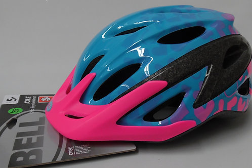 Bell youth pink and blue helmet