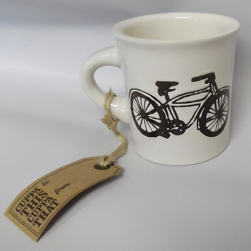 Bicycle coffee mug