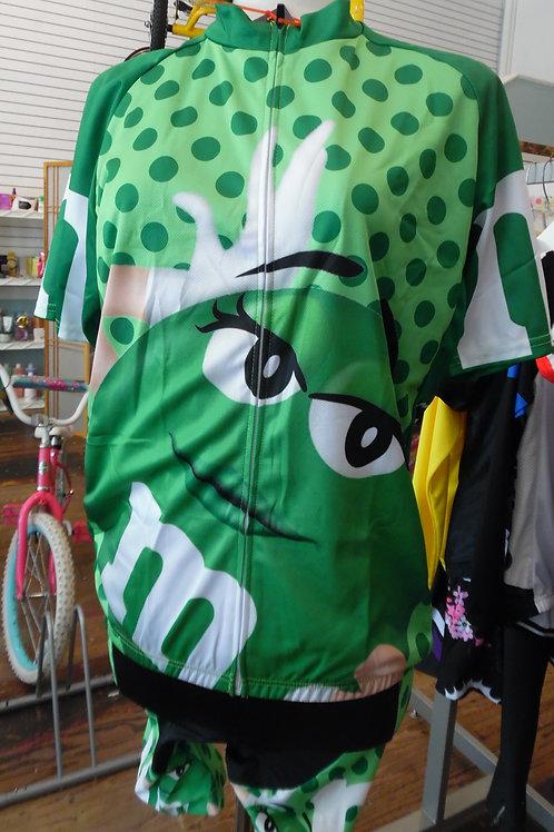 M&Ms Green Cycling Bibset