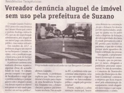 Vereador denúncia aluguel de imóvel sem uso pela prefeitura de Suzano