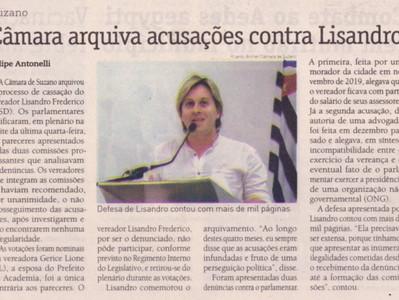 Câmara arquiva acusações contra Lisandro