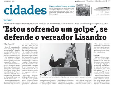 """""""Estou sofrendo um golpe"""", se defende o vereador Lisandro"""