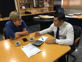 Lisandro se reúne com prefeito  para tratar sobre a reforma do CCZ